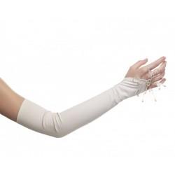 Mitaines très longues de couleur ivoire mat 43 centimètre pour mariée DeJean