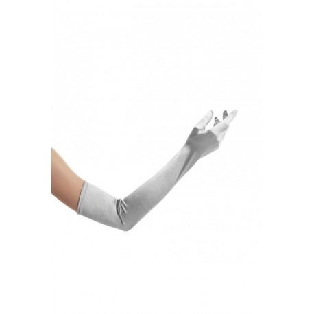 Gants gris extra long 58 centimètres environ pour gala