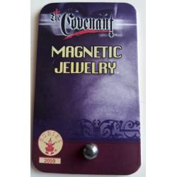 1 bijoux une demi perle couleur vieil argent magnetic aimant