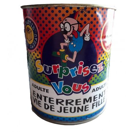 Boite de conserve comique spécial soirées enterrement vie de garçon réservé aux adultesEnterrement vie de garçon