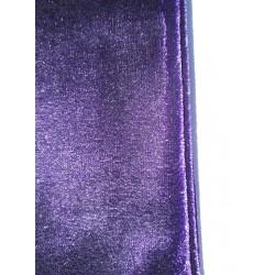 Gants violet sombre en panne de velours 25 centimètres taille L