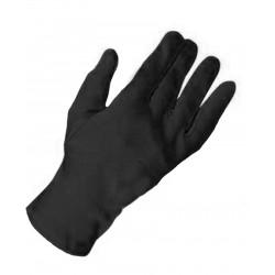 Gants courts en coton noir 23 centimètres