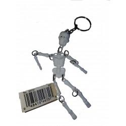 Porte clefs en forme de petit squelette articulé blanc