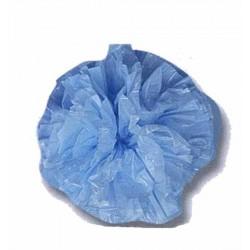 25 pompons bleu ciel en plastique souple de 10 cm