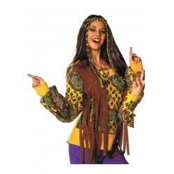 Tunique hippie femme gilet à franges intégré taille 38