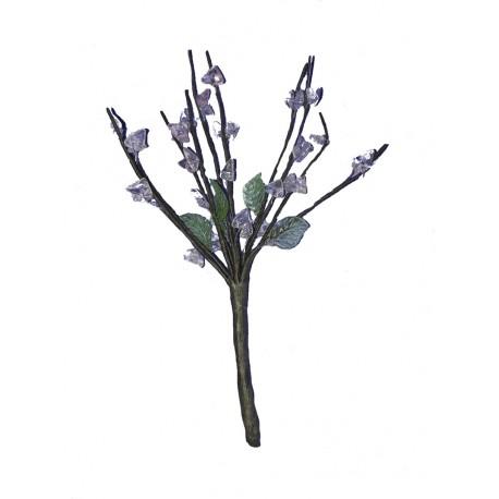Un bouquet à 10 brins hauteur moyenne 15 centimètres perles rose et vertes