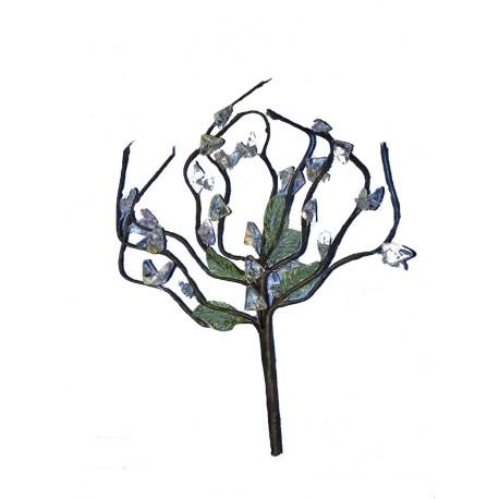 Un bouquet à 10 brins hauteur moyenne 15 centimètres perles beige, rose et vertes