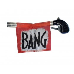 Bang ...voici une farce et attrape ancestrale le pistolet des temps du cinéma muet