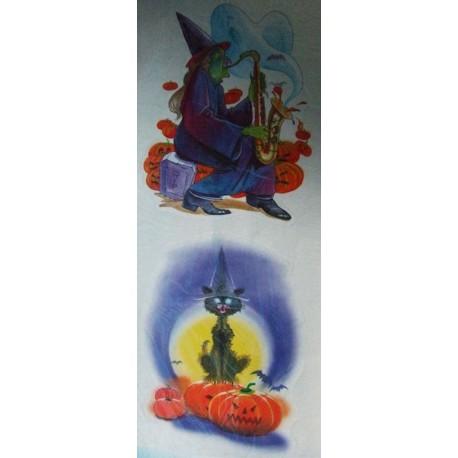 decoration-electrostatique-halloween-sorciere-joue-du-saxophone