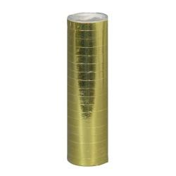 1 rouleau de 18 Serpentins dorés 4 mètres