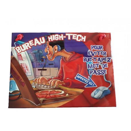 Plaque de porte humoristique et sonore pour le bureau high-tech