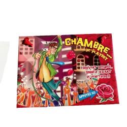 Plaque de porte humoristique et sonore pour la chambre de playboy