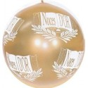 """Ballon de baudruche doré """"Noces d'or"""" 80 cm"""
