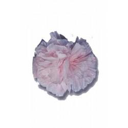 25 pompons rose pale en plastique souple de 10 cm