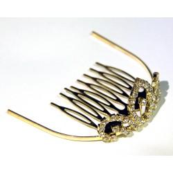 mini diademe pour petite princesse strass sur volutes dorées