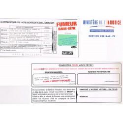 """Carte humoristique avec enveloppe un maxi PV pour """" Fumeur sans-gêne"""""""