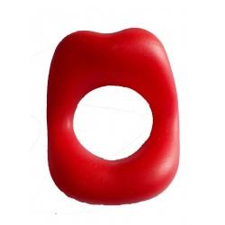 Fausses lèvres maquillées en rouge très pulpeuses farces et attrapes