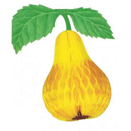 1-poire-en-papier-alveole-jaune-decoration-22-5-cm