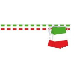 Guirlande drapeau italien 12 pavillons sur 5 mètres Italie