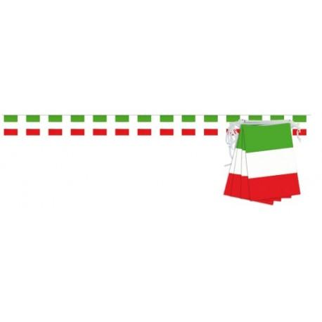 Guirlande drapeau italien 20 pavillons sur 10 mètres Italie