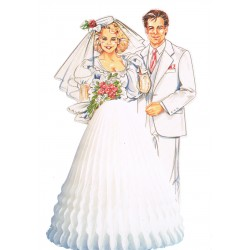 couple-de-maries-monsieur-et-madame-en-blanc-papier-alveole