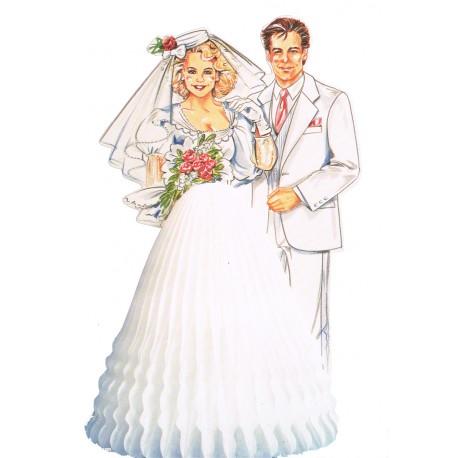 couple-de-maries-monsieur-et-madame-en-blanc-papier-alveole