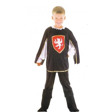 Mousquetaire noir déguisement enfant 4 à 6 ans rouge et noir