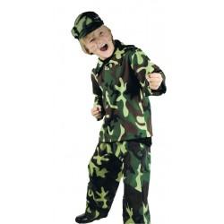 Soldat déguisement de militaire en tenue de camouflage taille de 4 à 6 ans