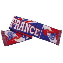 """Écharpe """"Allez France"""" en tricot 140 cm x 20 cm tricolore coupe du monde"""