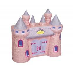 piganta chateau rose de princesse pinata à casser anniversaire de petite fille