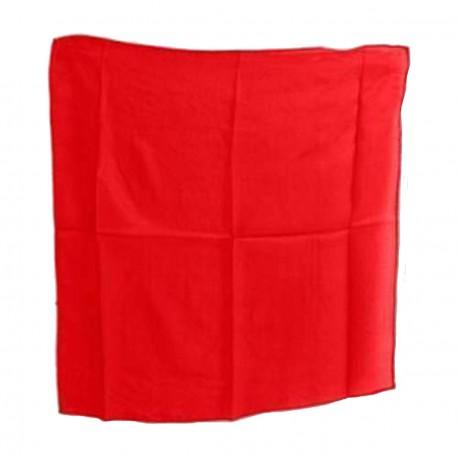 Foulard rouge en soie carré 20 centimètres pour les tours de magie