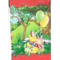 Pinata carrée à tirer modèle Winnie l'ourson bourriquet tigrou et Porcinet avec ballons
