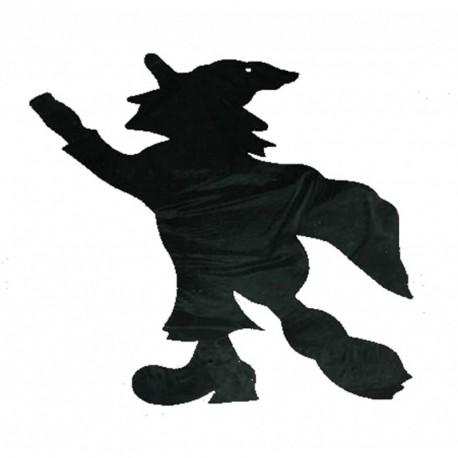 1 découpe noire à suspendre silhouette de sorcière noire comme une ombre