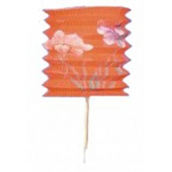 1 lampion chinois triangle orange à suspendre diamètre 15.5 centimètres de coté