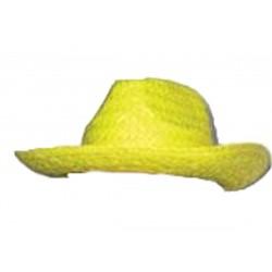 Borsalino en paille jaune canari Australien