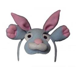 Serre-tête lapin avec le museau devant notre nez