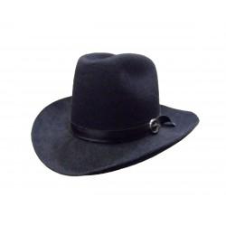 Chapeau de cow-boy texan noir en feutre Taille 60