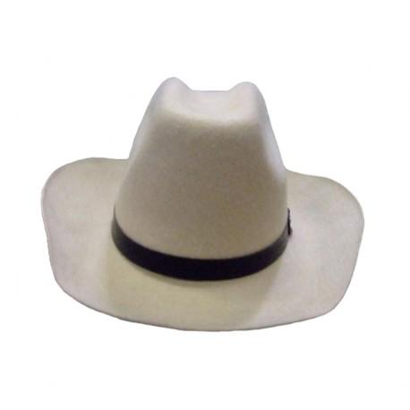 Modèle de démonstration Chapeau de cow-boy texan beige en feutre marbré Taille 60