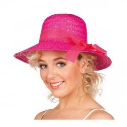 chapeau-de-paille-rose-fuchsia-forme-curacao