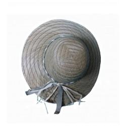 Capeline en paille de jonc tressée chapeau 2 tailles au choix 56 ou 58 coiffe protection soleil