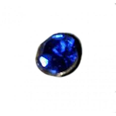 1 Boucle d'oreille puce en argent massif 925 °/°° vieilli avec cristal bleu