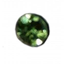 1 Boucle d'oreille puce en argent massif 925 °/°° vieilli avec cristal vert
