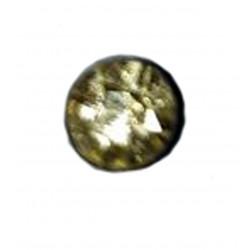 1 Boucle d'oreille puce en argent massif 925 °/°° vieilli avec cristal jaune clair