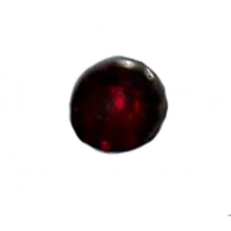 1 Boucle d'oreille puce en argent massif 925 °/°° vieilli avec cristal rouge