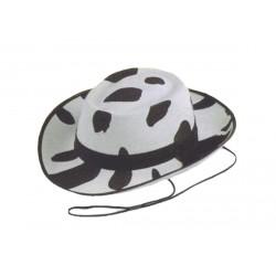 Chapeau de cow-boy aux couleurs de la vache ivoire et noir