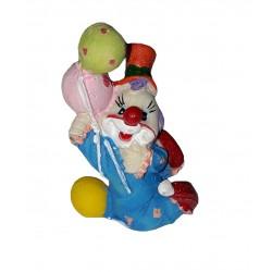 clown-bleu-avec-ballons-figurine-en-resine