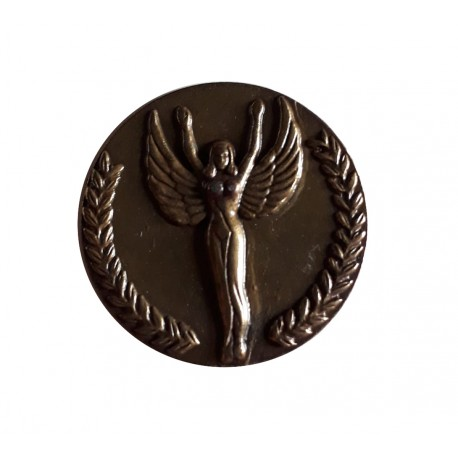 Medaille pétanque 32 millimètres de diamètre argent avec liseré doré