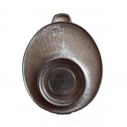 Medaille ovale porte centre argent 53 millimètres de long
