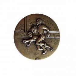 centre de Medaille rugby bronze 50 millimètres de diamètre à coller sur porte centre