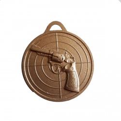 Medaille dorée tir au révolver 40 millimètres de diamètre vous pouvez graver le dos